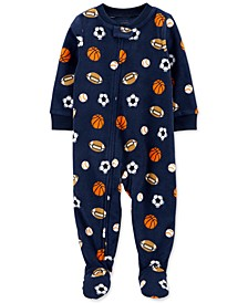 Baby Boys Footed Fleece Sports Pajamas