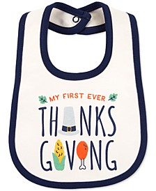 Baby Unisex Cotton Turkey Bib