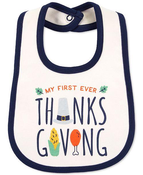 Carter's Baby Unisex Cotton Turkey Bib