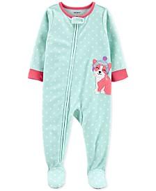 Carter's Baby Girls Footed Fleece Corgi Pajamas
