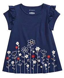 Baby Girls Cotton Floral-Print T-Shirt, Created For Macy's