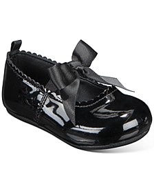 Baby Girls Black Patent Walker Flat, Created for Macy's