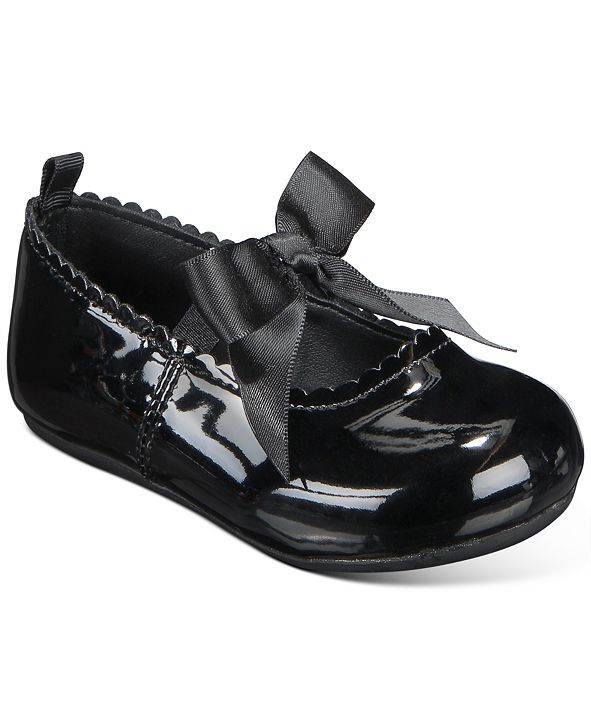 First Impressions Baby Girls Black Patent Walker Flat, Created for Macy's