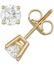 Diamond Stud Earrings (1 ct. t.w.) in 14k White, Yellow or Rose Gold