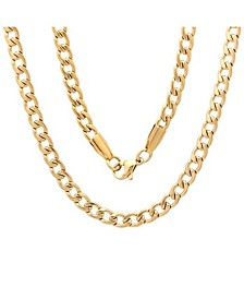 "Men's 18k gold Plated Stainless Steel 24"" Figaro Style Chain Necklaces"