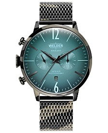 WELDER Men's Camo Stainless Steel Mesh Bracelet Watch 47mm