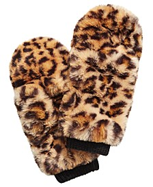 INC Pop Top Faux Fur Mittens, Created For Macy's