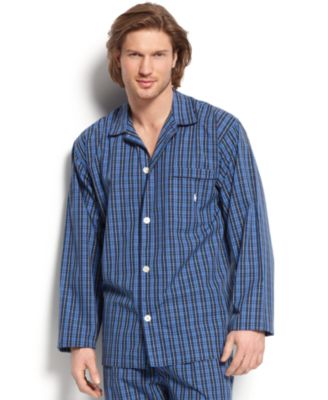 Men's Harwich Plaid 100% Cotton Long-Sleeved Pajama Top