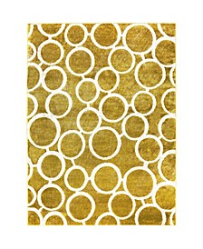 "Tanja Modern Yellow 7'10"" x 10'2"" Area Rug"