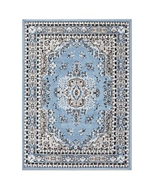 "Global Rug Design Loma LOM01 Blue 9'2"" x 12'5"" Area Rug"