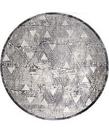 "Kenmare Carolina Gray 7'10"" Round Area Rug"