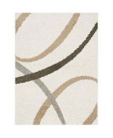 "Synergy Quill Shag White 5'2"" x 7'2"" Area Rug"