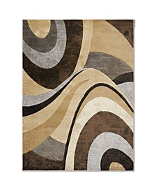 "Brighton BRI13 Brown 7'10"" x 10'6"" Area Rug"