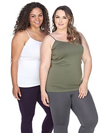 Plus Size Lace Tank Tops Pack of 2