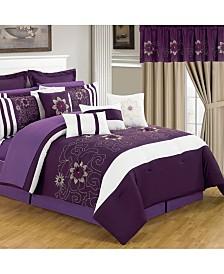 Baldwin Home 24 Piece Room-In-A-Bag Amanda Queen Bedroom Set