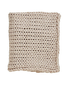 Saro Lifestyle Chunky Woven Knit Throw