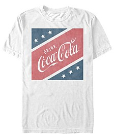 Coca-Cola Men's Stars And Stripes Square Short Sleeve T-Shirt