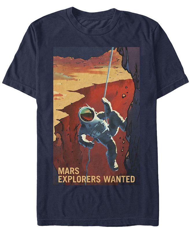 NASA Men's Mars Explores Wanted Short Sleeve T-Shirt