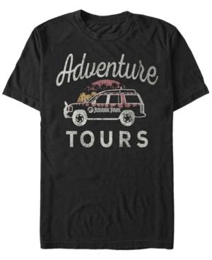 Men's Distressed Vintage-Like Adventure Tours Short Sleeve T-Shirt