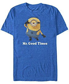 Illumination Men's Despicable Me Mr. Good Times Short Sleeve T-Shirt