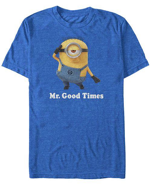 Minions Illumination Men's Despicable Me Mr. Good Times Short Sleeve T-Shirt