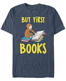 Curious George Men's Books First Short Sleeve T-Shirt