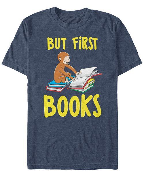 Curious George Men's Books First Short Sleeve T-Shirt