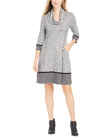 Robbie Bee Petite Cowlneck Sweater Dress