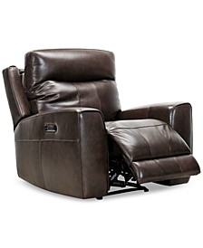 "Bitola 40"" Leather Dual Power Recliner, Created for Macy's"