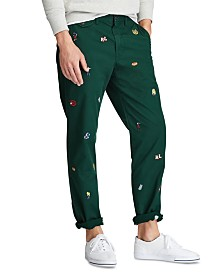 Polo Ralph Lauren Men's Cotton Twill Bedford Flat Pants
