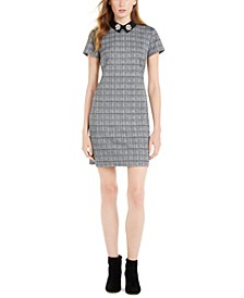 Embellished-Collar Plaid Mini Dress, Created For Macy's