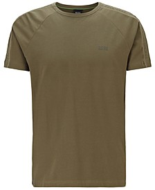 BOSS Men's Regular-Fit T-Shirt with Logo-Tape Sleeves