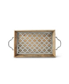 The GG Collection Wood and Metal Heritage Collection Tray