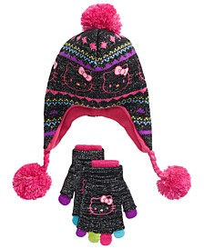 Big Girls 2-Pc. Heidi Hat & Layered Gloves Set