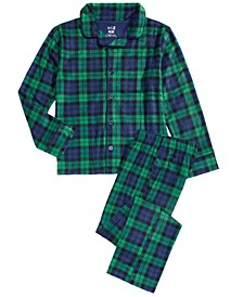 Little & Big Boys 2-Pc. Plaid Fleece Pajama Set