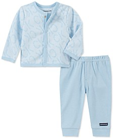 Baby Boys 2-Pc. Cardigan & Jogger Pants Set