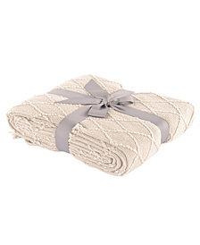 "Battilo Home Knit Diamond Patterned Throw, 50"" X 60"""