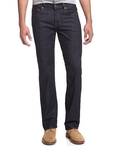 7 For All Mankind Men's Carsen Easy Straight Fit Jeans, Clean Dark ...