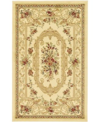 Belvoir Blv3 Ivory 6' x 6' Round Area Rug