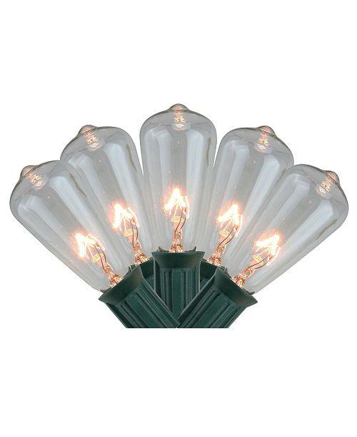 Northlight Set of 20 Transparent Clear Mini Edison Style Summer Patio Lights