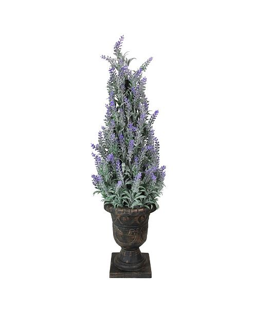 Northlight Potted Artificial Flowering Heather Plant