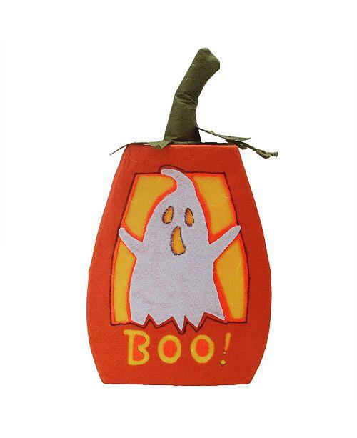 Northlight LED Lighted Boo Felt Ghost Pumpkin Halloween Decoration