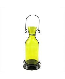Northlight Transparent Decorative Glass Bottle Tea Light Candle Lantern