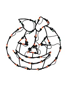 Lighted Jack-O-Lantern Halloween Double Sided Window Silhouette Decoration