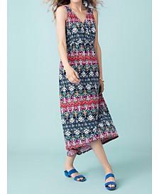 Tribal High-Low Maxi Dress