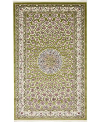 Zara Zar1 Green 5' x 8' Area Rug