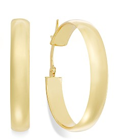 14k Gold Earrings, Hoop Earrings