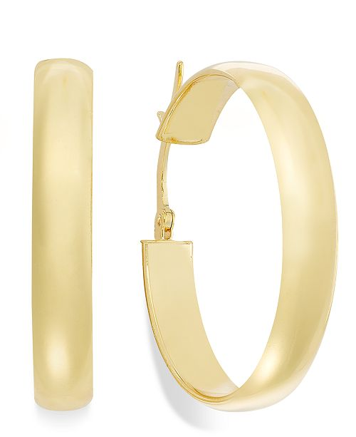 Macy's 14k Gold Earrings, Hoop Earrings