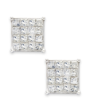 Princess-Cut Diamond Stud Earrings in 10k White Gold (1/2 ct. t.w.)