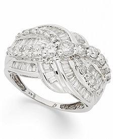 Multi-Row Diamond Ring in 14k White Gold (2 ct. t.w.)